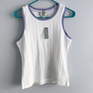 NWT Anthropologie Ivory Sweater Tank